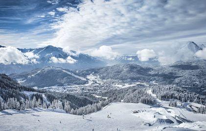 Skigebiet von oben